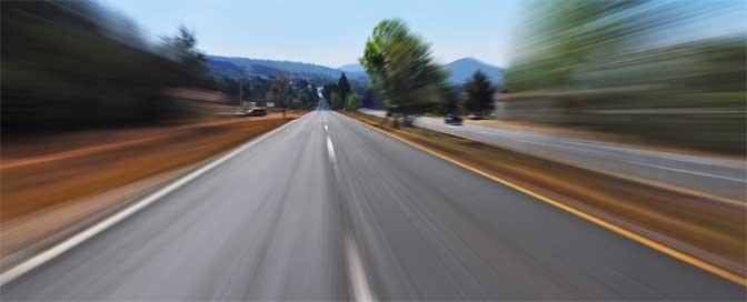 Straße für Seifenkistenrennen