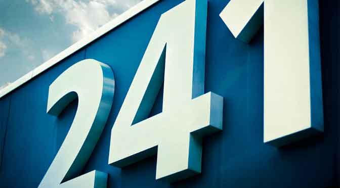 Große & kleine Hausnummern
