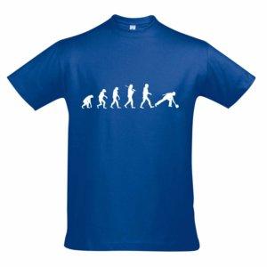 T-Shirt - EVOLUTION blau
